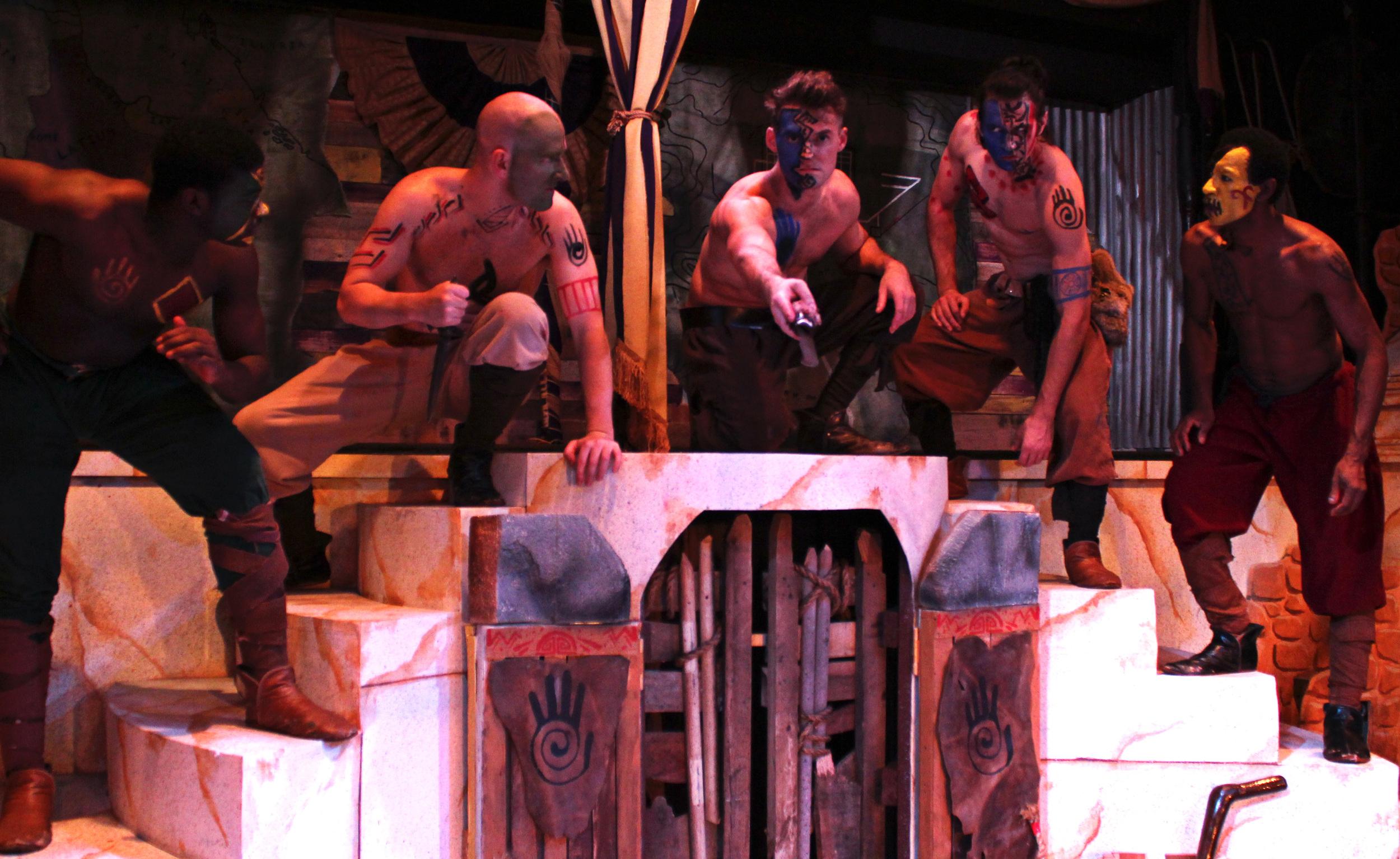 Volsce (Bernard Joseph), Volsce (Toby Bradbury),Aufidius (Ian-potter),Volsce (Ben Koontz),Volsce (Clem Onukwubiri)