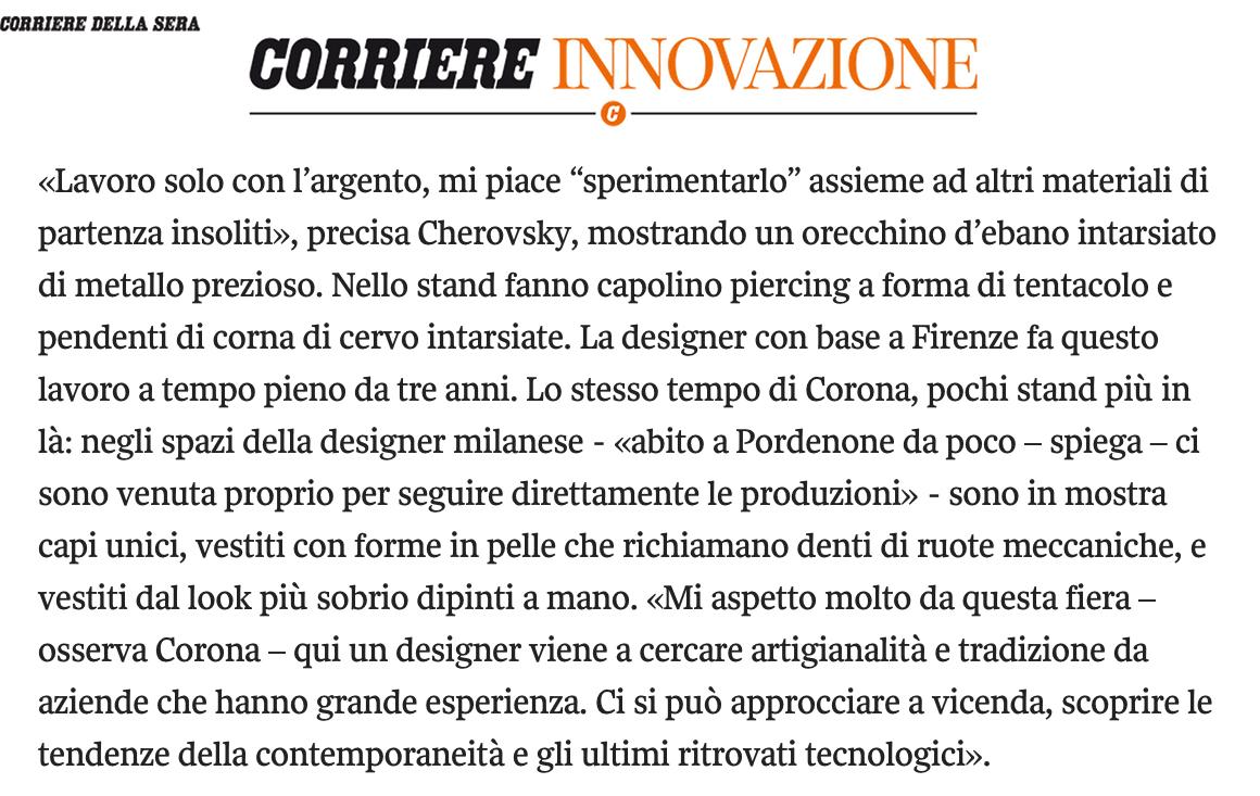 Raw Taste Corriere Innovazione interview.jpg