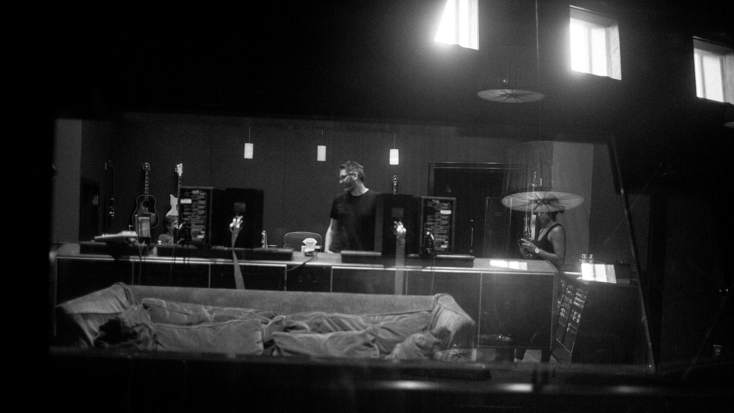 in session at Blackbird Studio D (Nashville, TN) - by  Wrenne Evans