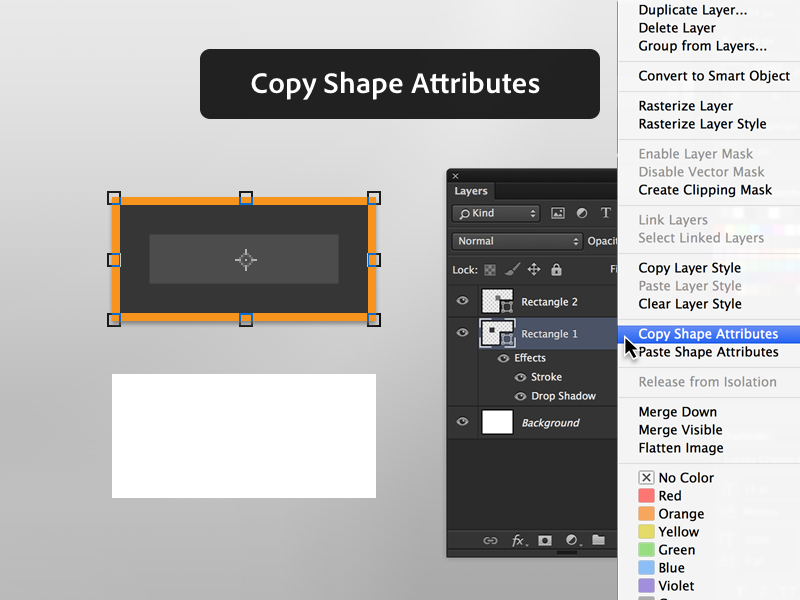 2. Copy Shape Attributes