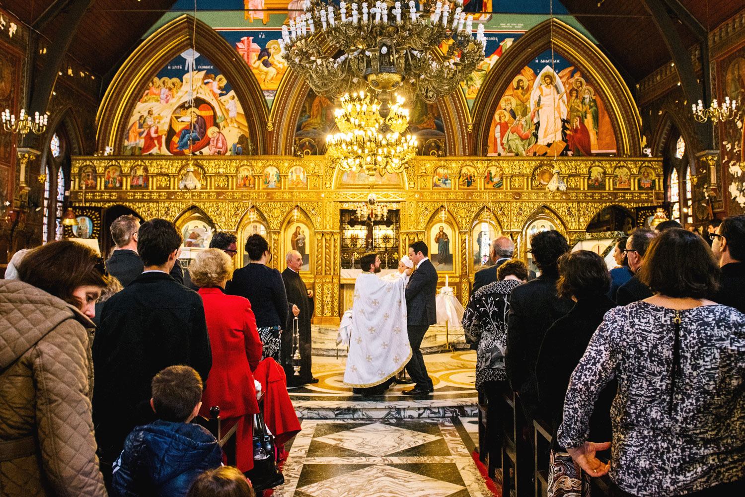 Christening at Burwood Greek Orthodox church