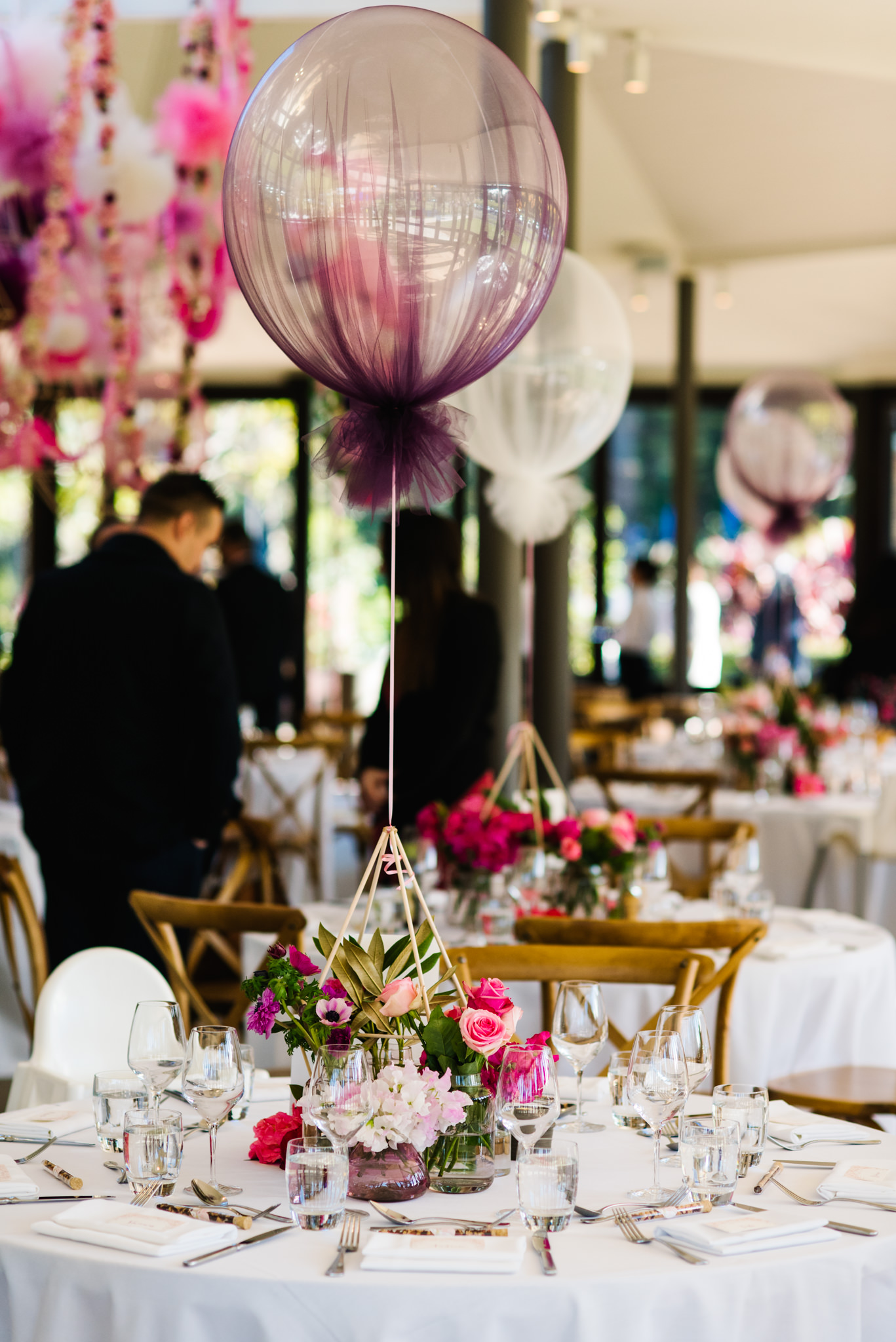 Balloons at table christening reception.jpg