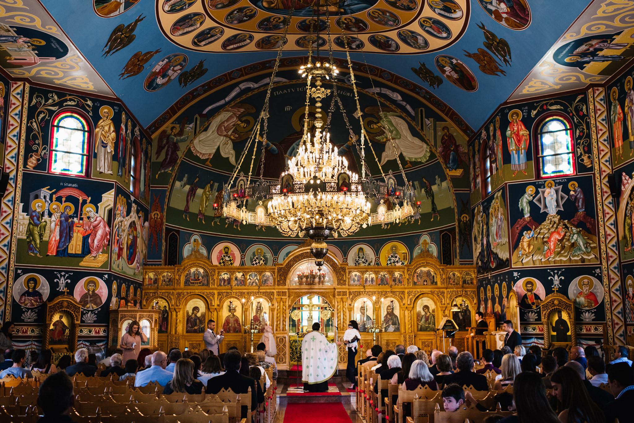 Christening at St. Catherine's Greek Orthodox Church