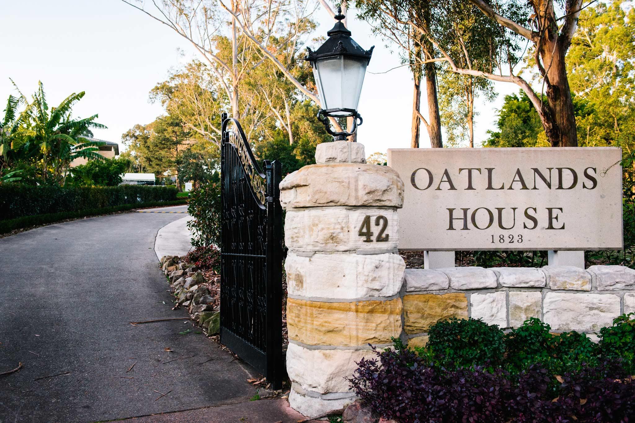 Entrance to Oatlands House christening venue
