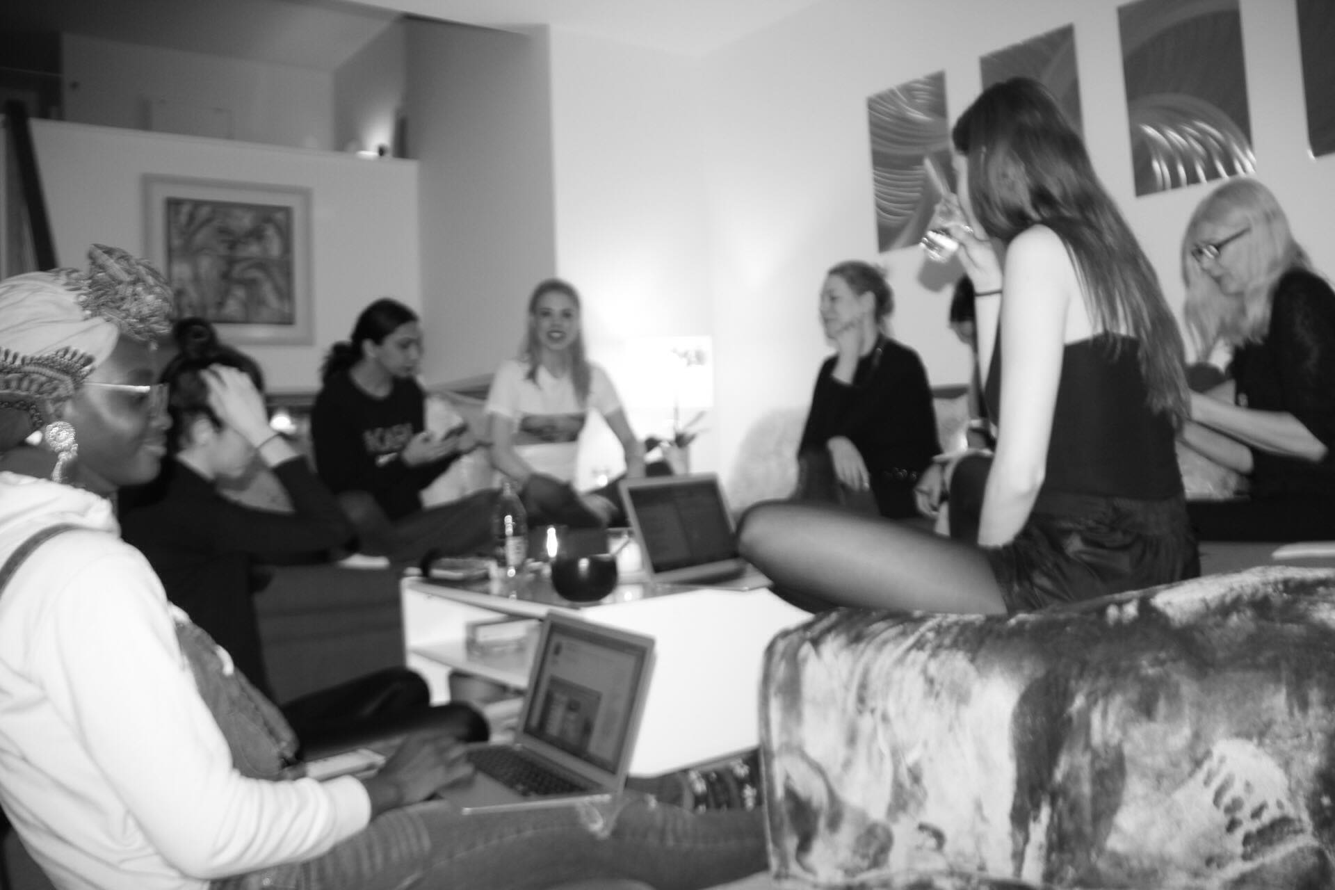 SupeRoleModels - SRM team meeting to discuss future projects, organizing groups and sharing personal goals 02/04/2018