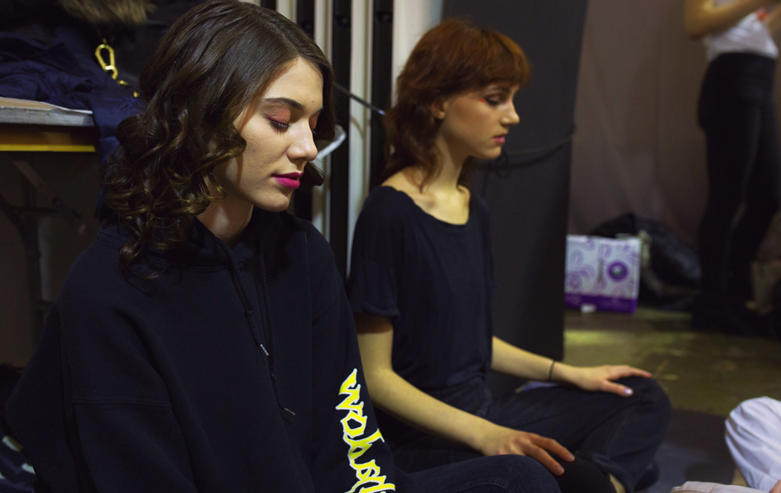 Meditation NYFW - SupeRoleModels practiced backstage meditation with models during the NYFW February, 2018