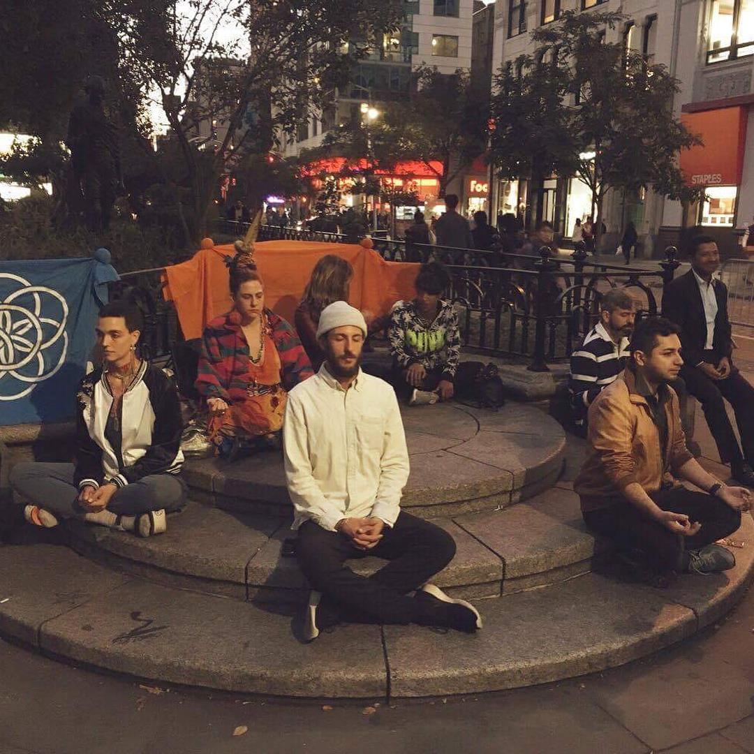 Meditation at Union Square with Richard Karl - Richard Carl is an activist / yoga and meditation teacher.