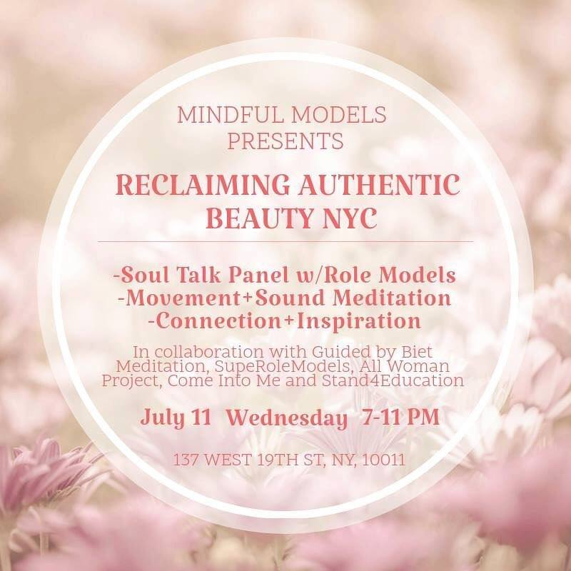 Reclaiming Authentic beauty - SupeRoleModel Kristina Block founder of Mindful Models is organizing event about beauty, inspiration and positive changes for modeling industryRegister HERE