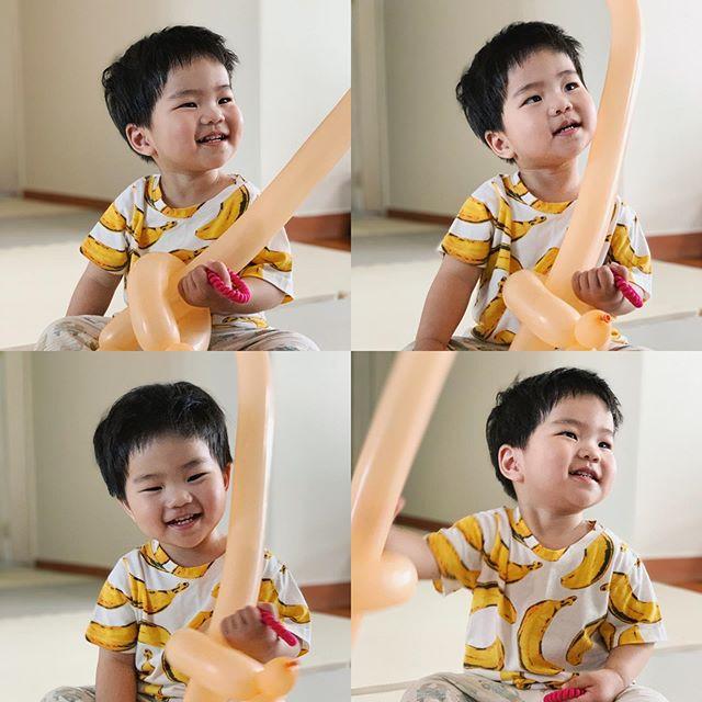 Happy Yul 😍 준이와 얼굴만 닮고 성격은 너무 다른 율이 ㅡ 그래서 더 재미있네요 😆