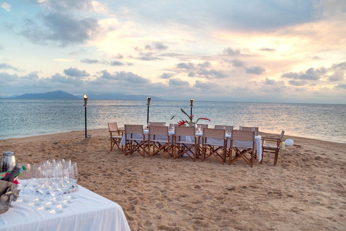 Sunset dinner on Wheeler Island
