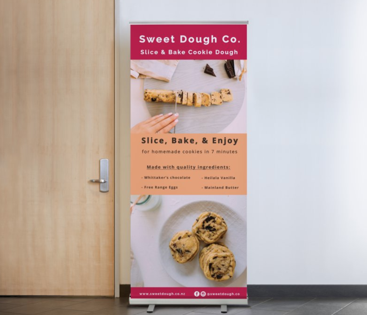 Pull Up Banner Design & Photography for  Sweet Dough Co.