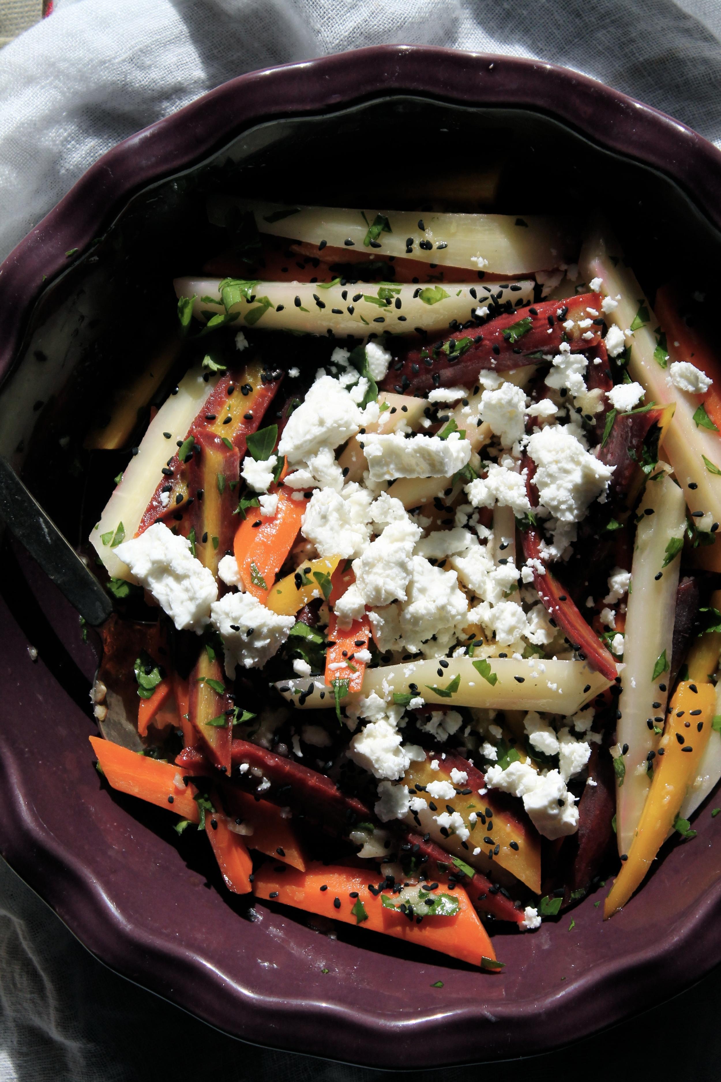 Carrot Feta Salad | www.hungryinlove.com