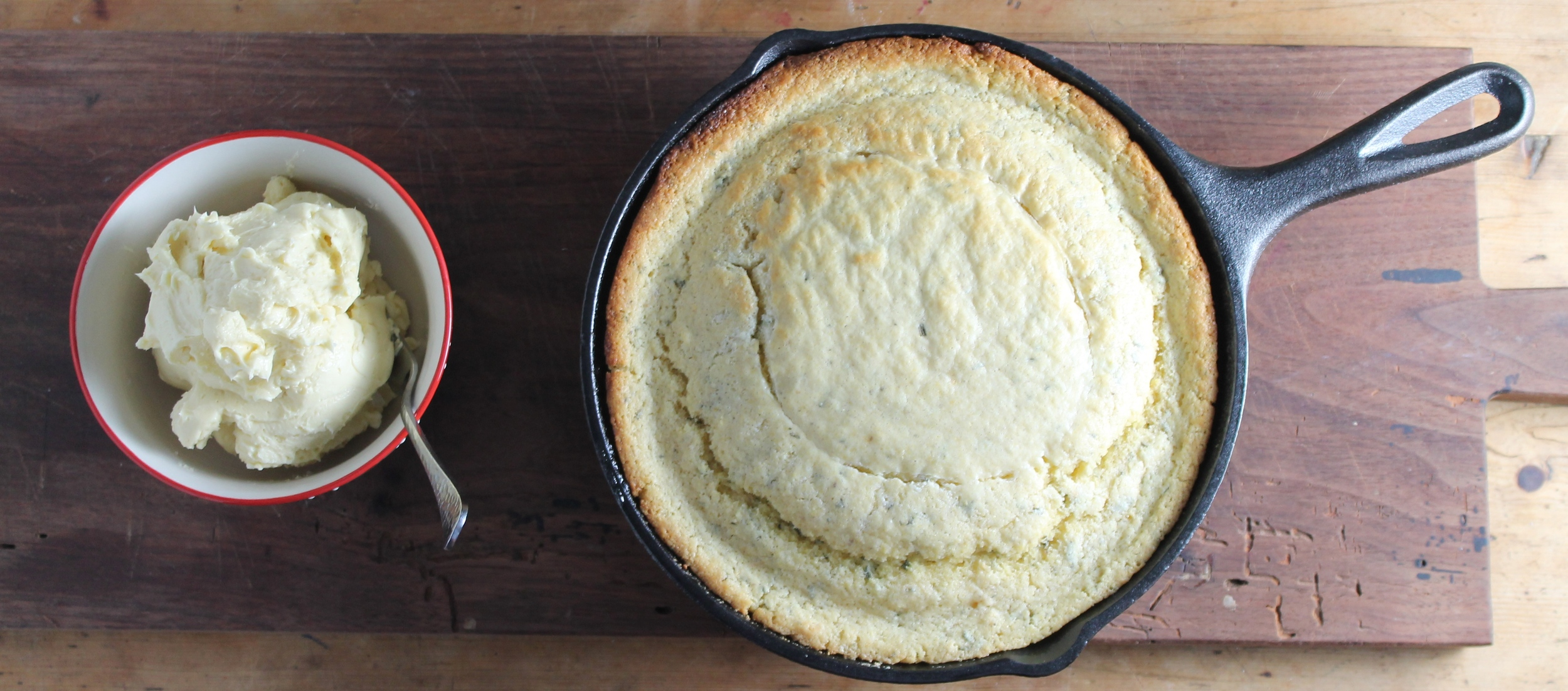 Rosemary Cornbread with Salted Maple Butter | www.hungryinlove.com