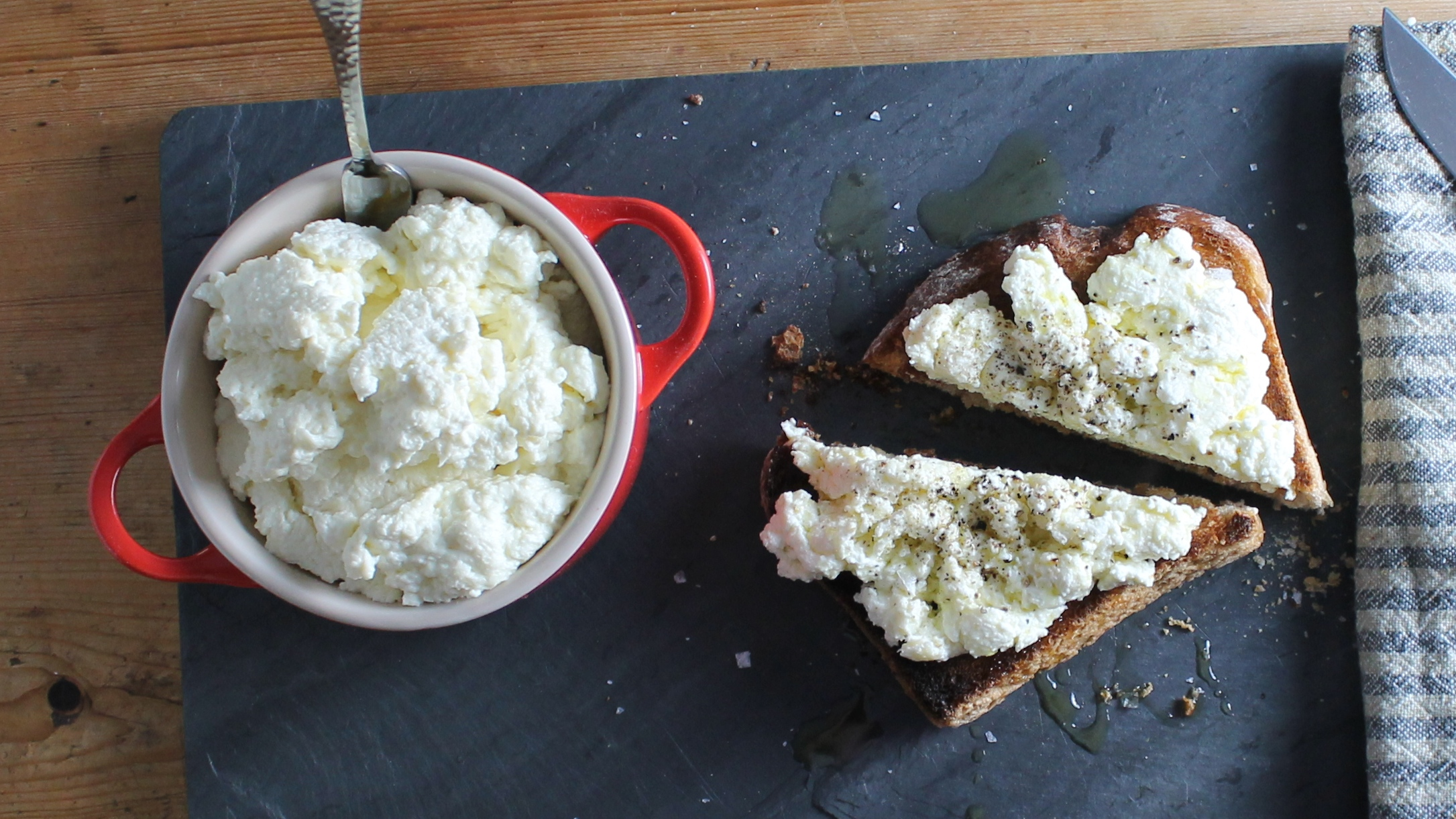 Raw Milk Ricotta on Toast | www.hungryinlove.com