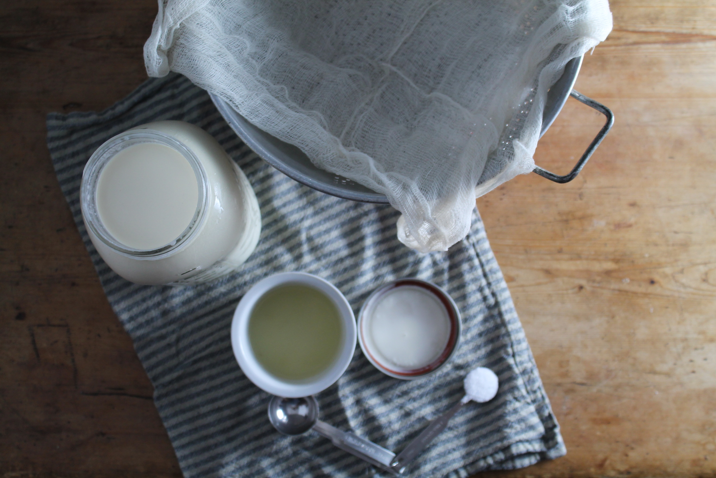 Raw Milk Ricotta Mise En Place | www.hungryinlove.com