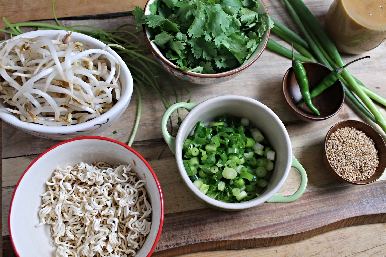 Napa Cabbage Salad Mise En Place | www.hungryinlove.com