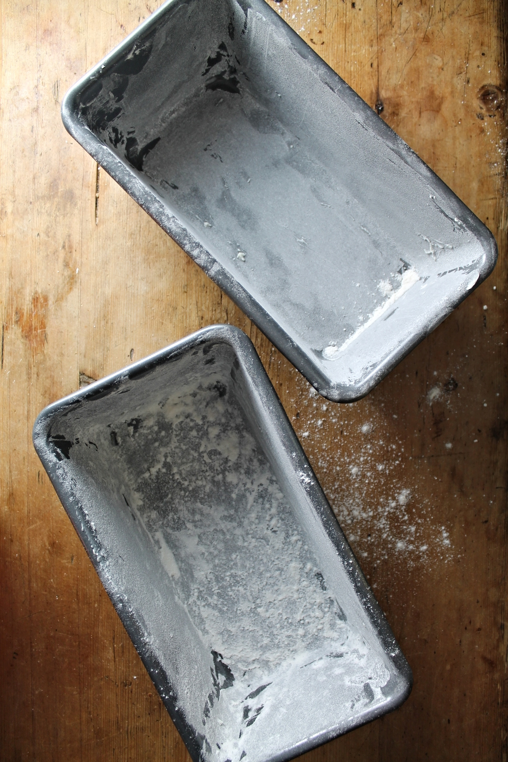 Buttered + Floured Loaf Pans | www.hungryinlove.com