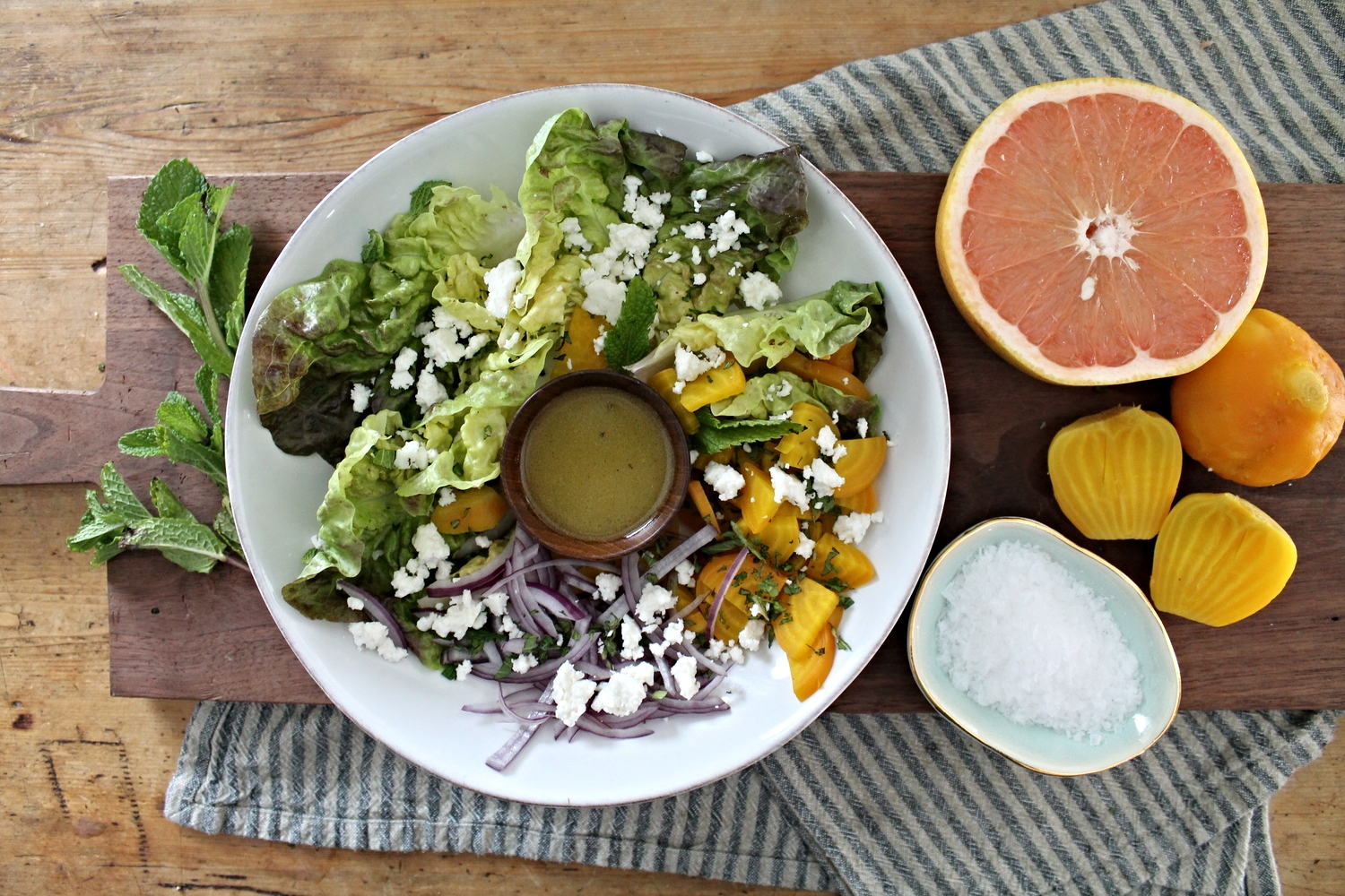 Winter Salad + Grapefruit Vinaigrette | www.hungryinlove.com