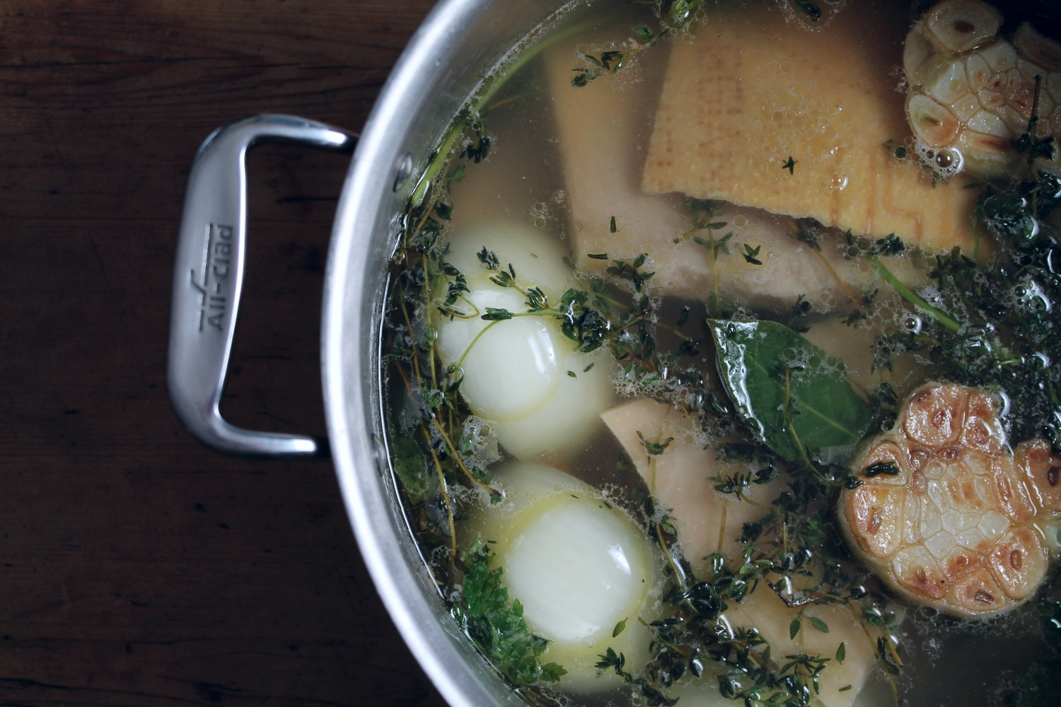 Find the recipe for this  Parmesan Broth at BonAppetit .