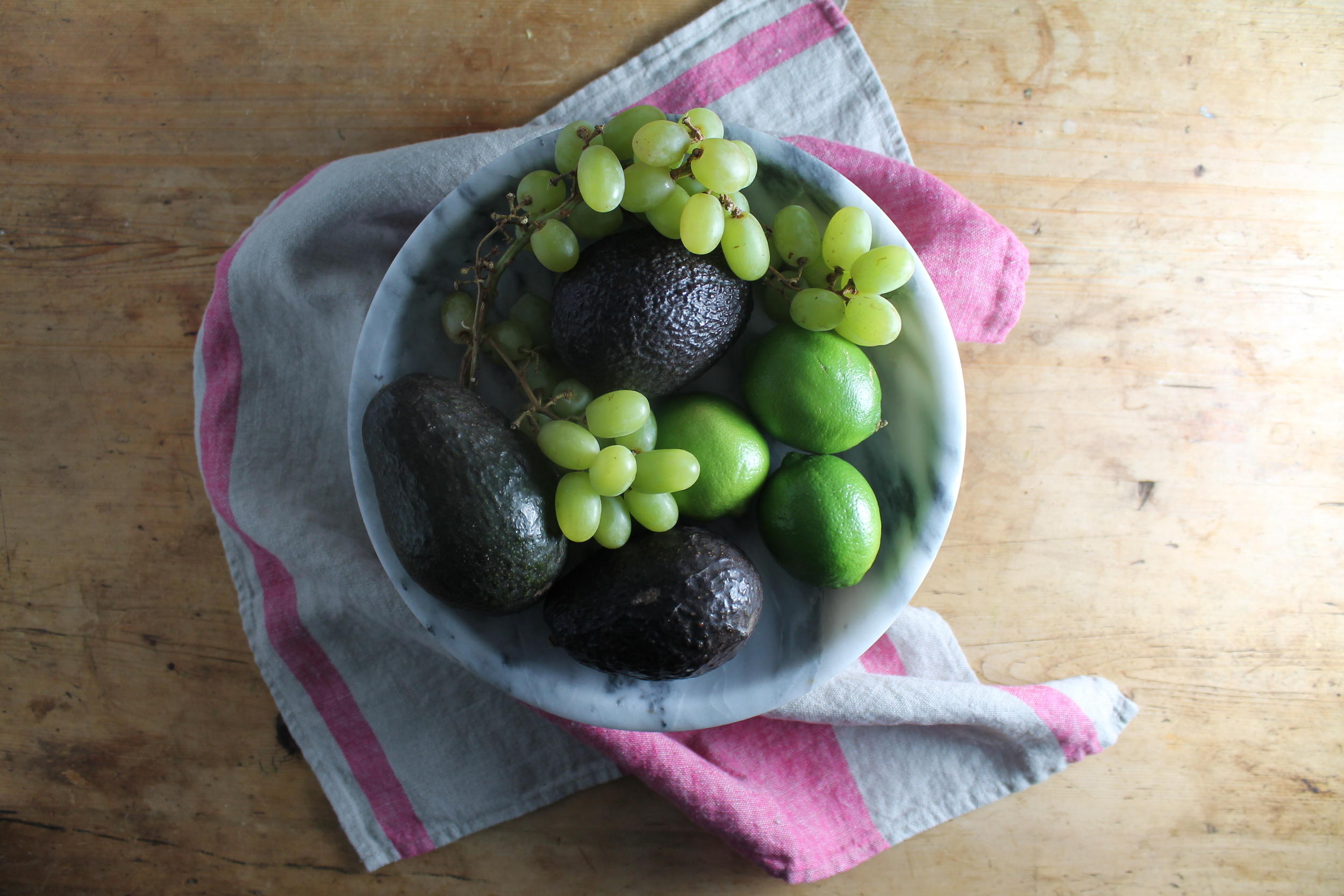 Roasted Green Grape Guacamole Mise En Place | www.hungryinlove.com