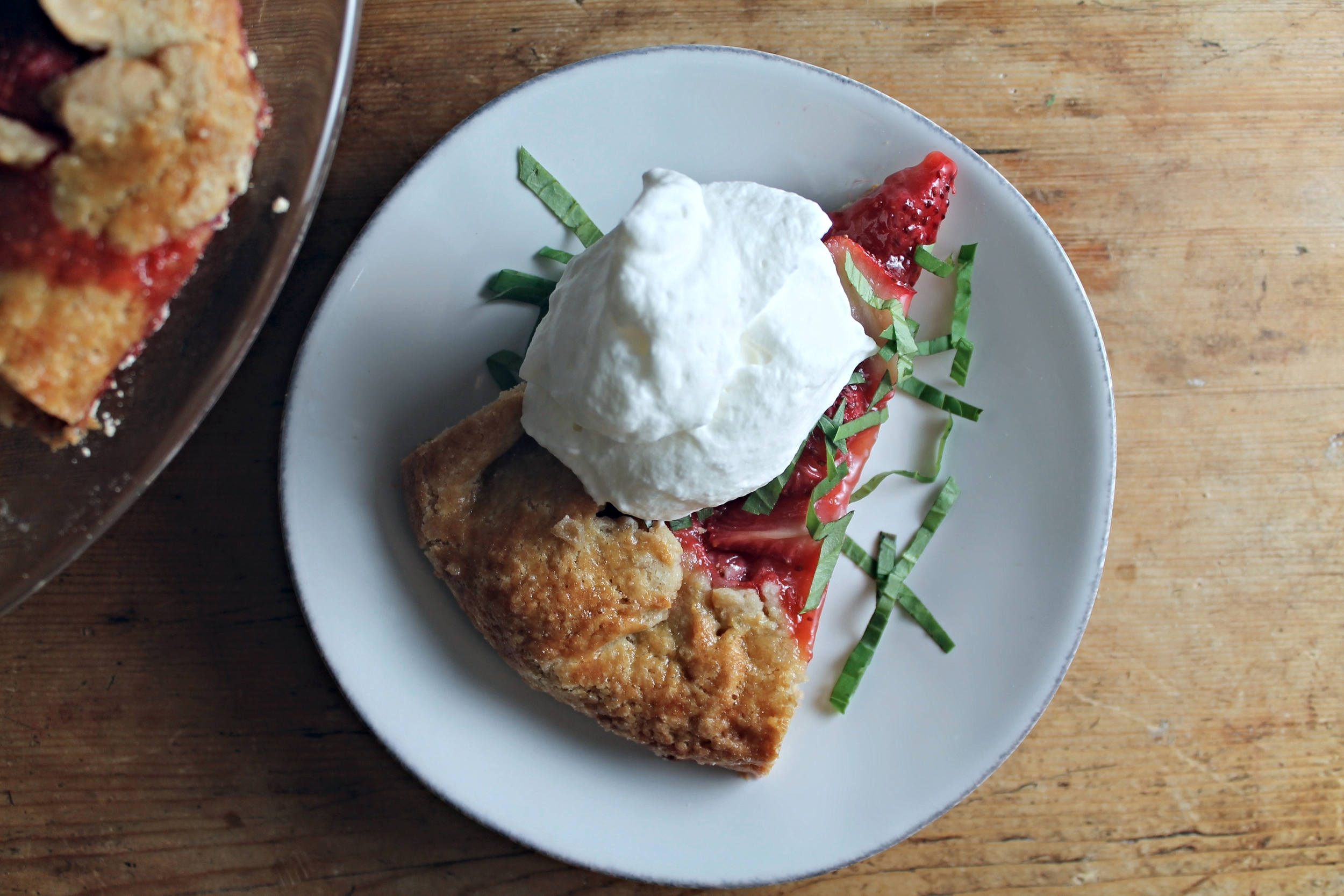 Strawberry Crostata + Basil Whipped Cream | www.hungryinlove.com
