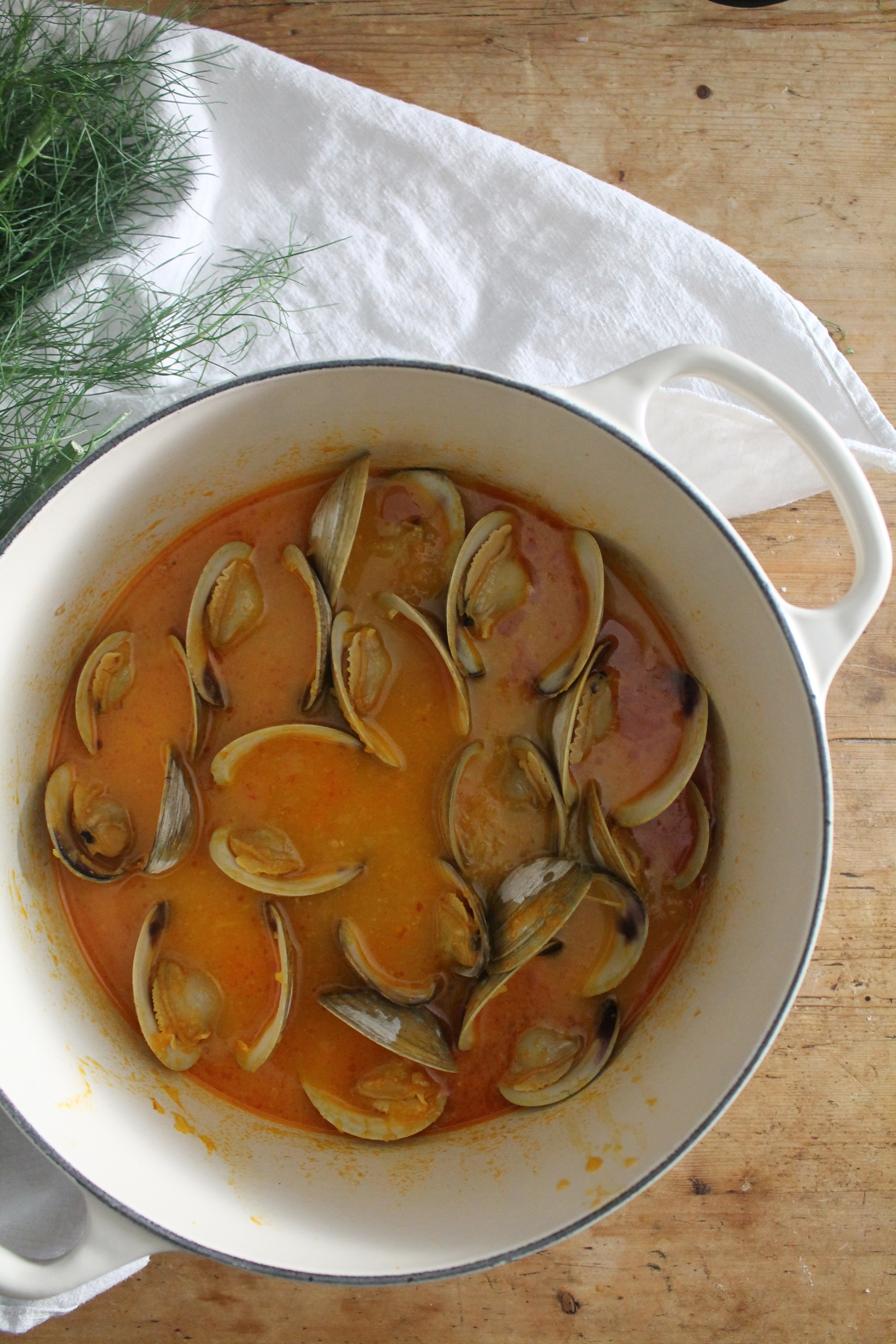 Cherrystones with Saffron + Fregola | www.hungryinlove.com