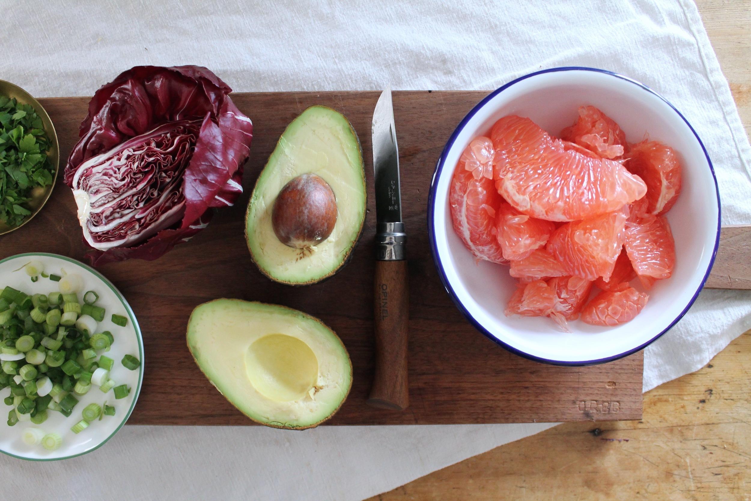 Grain, Grapefruit + Avocado Salad | www.hungryinlove.com