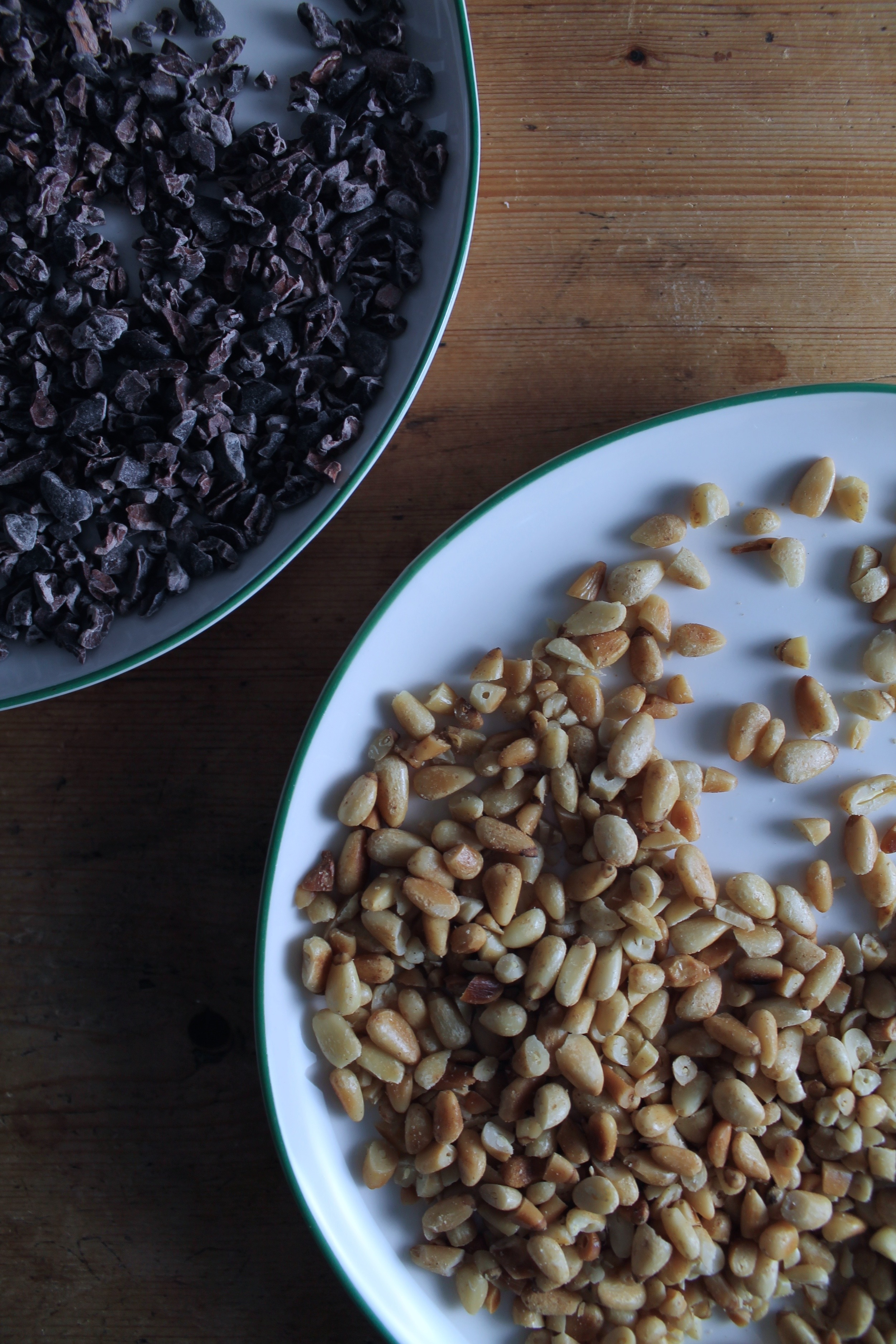 Cocoa Nibs + Pine Nuts | www.hungryinlove.com