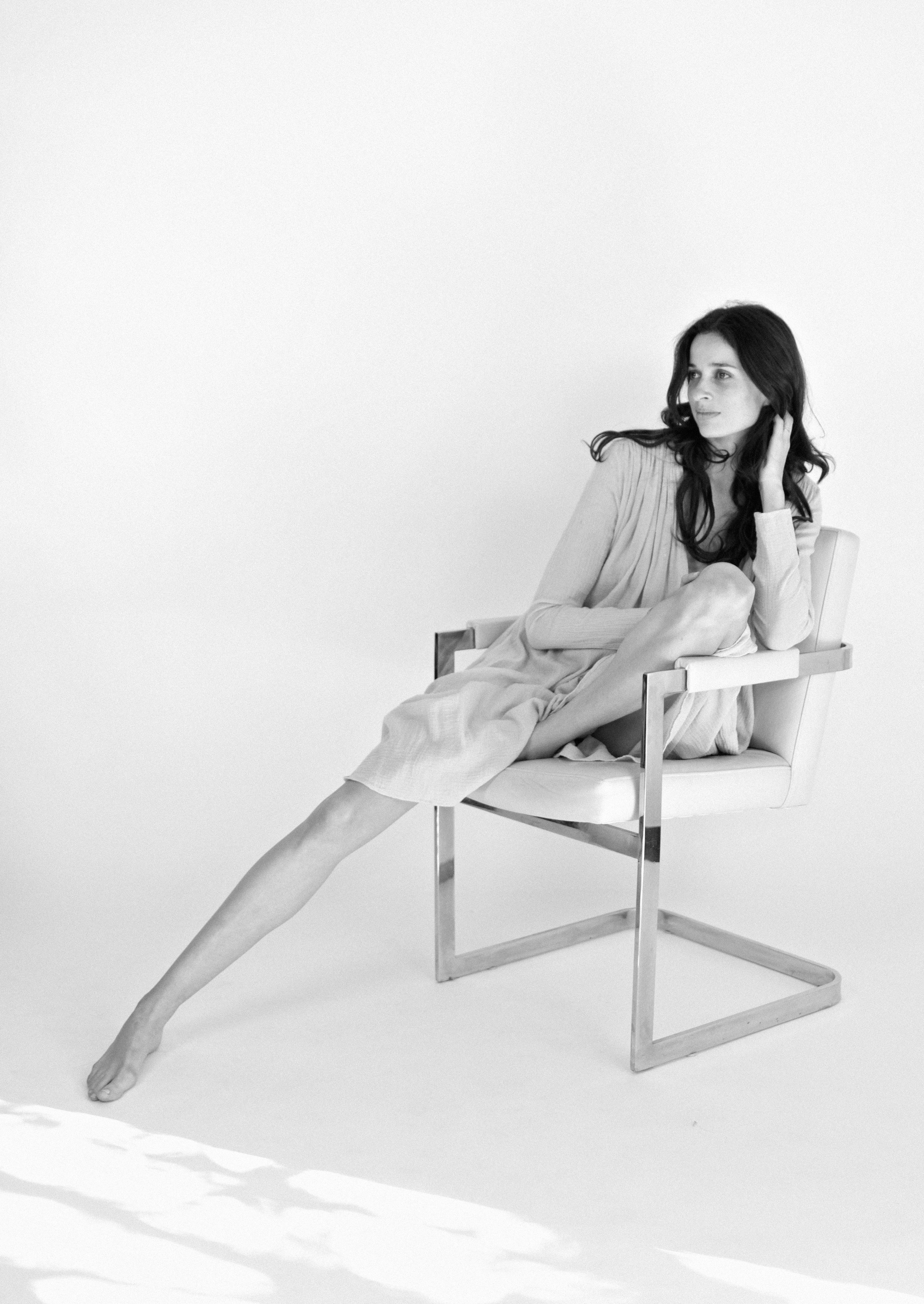 Narelle wears the  Tangier  dress in Cement.