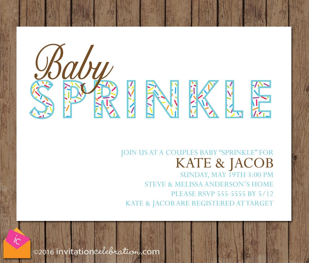 baby boy sprinkle invitation