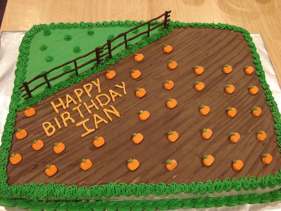 pumpkin patch cake DIY