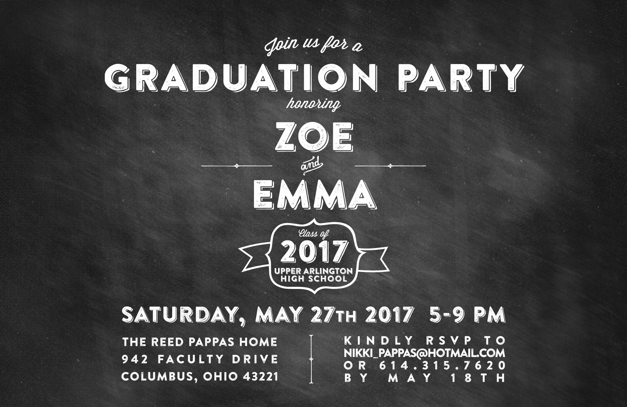 chalkboard graduation retro