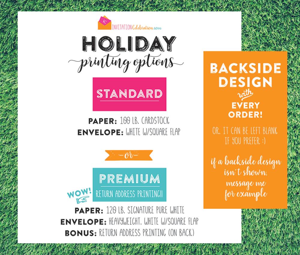 holiday print options