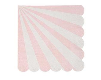 Pale pink paper napkins with scallop edges gives it a retro feel, available from  The Party Shack