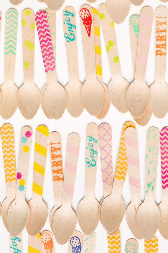 Eclectic Wooden Spoons from Etsy Shop:  Sucre Shop