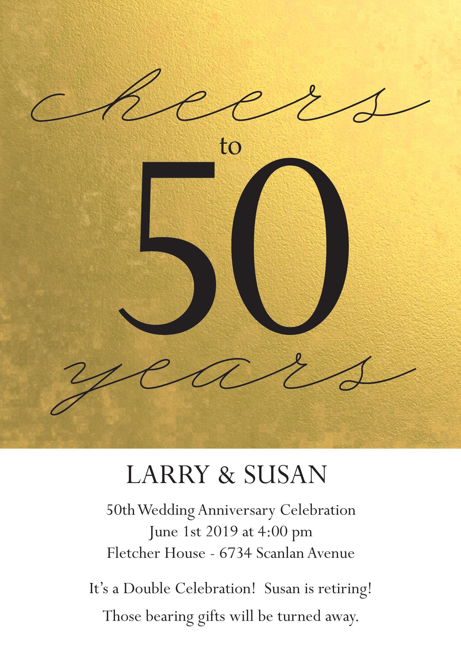 50 wedding anniversary invitation