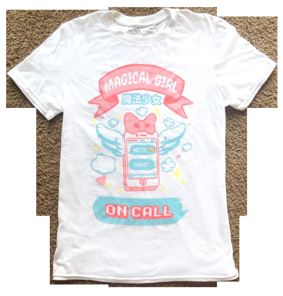 magical girl on call shirt png.png