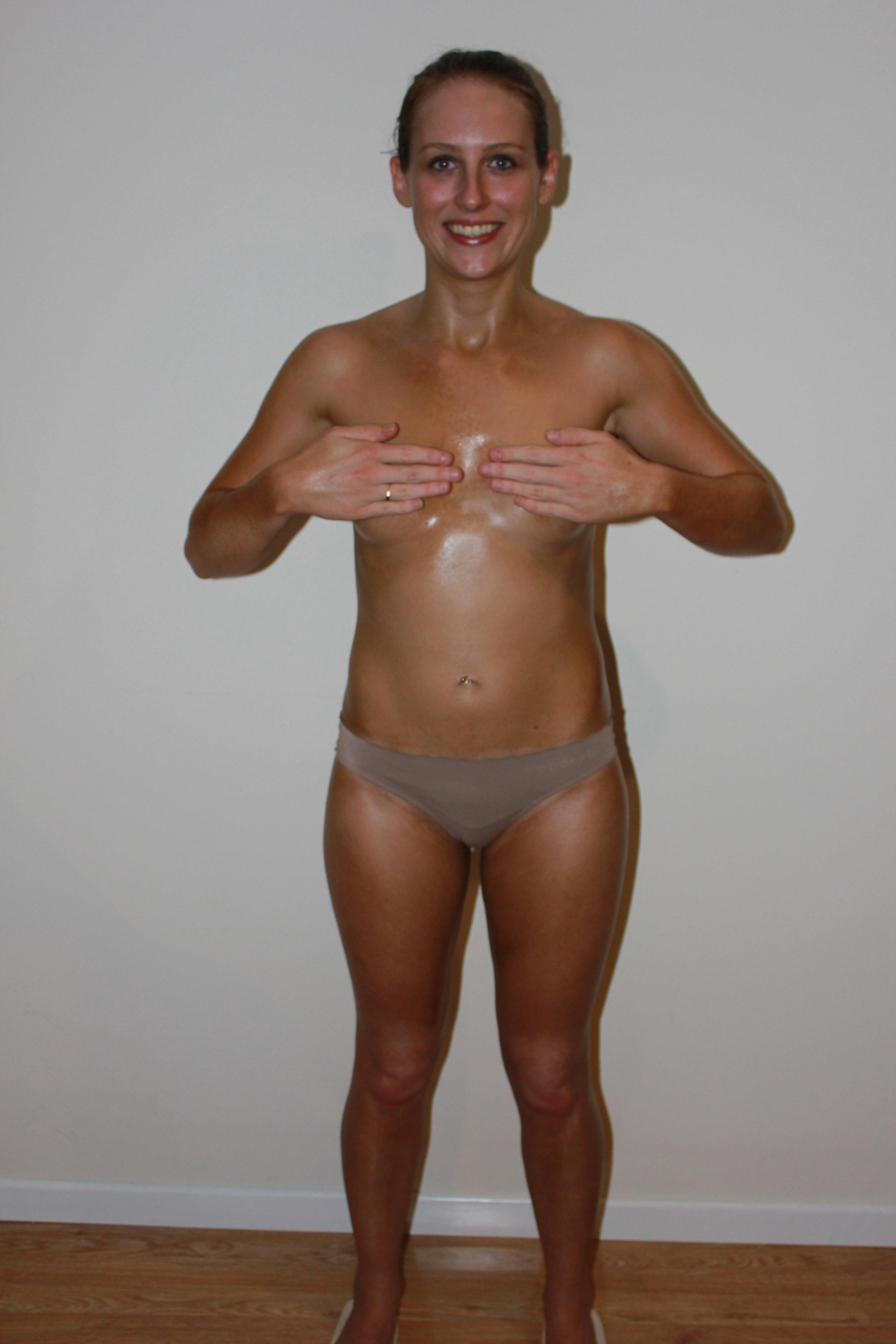 Kristy spray tan after