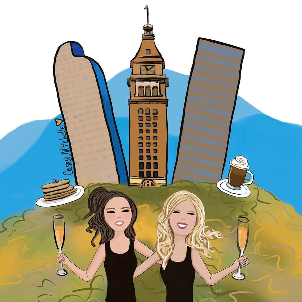 Move over race photos!  Get your own custom bRUNch Run Illustration by the Casey Michelle Art for a special bRUNch deal of $29 per illustration add $10 per additional bRUNch bestie in illustration.