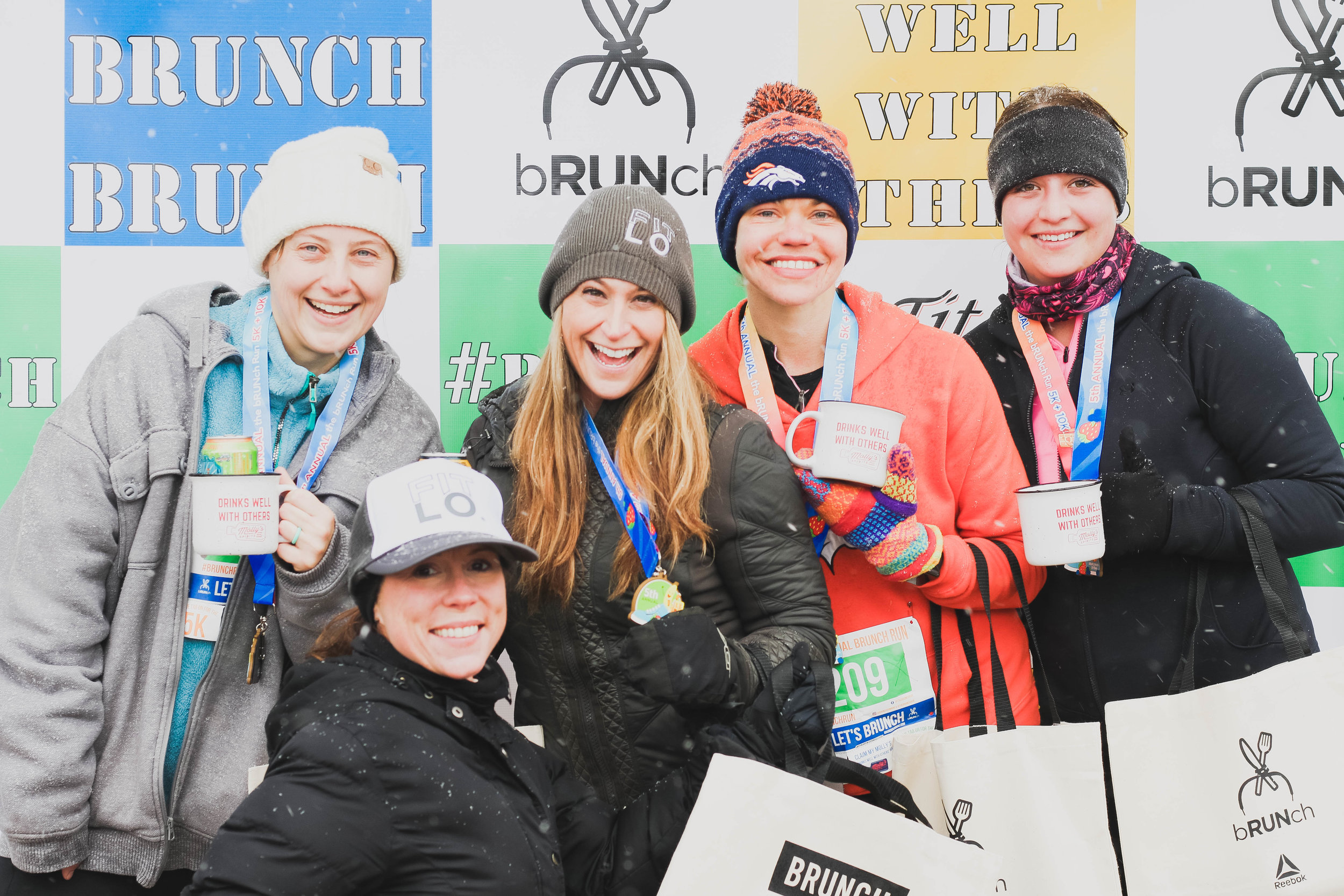 The bRUNch Run 2018   Last year it snowed, like a lot. And it was cold. But, that didn't stop us from bRUNching our little hearts out. Because after all, all weather is indeed #bRUNching weather.