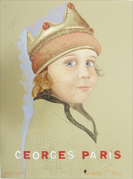 """Georges Paris 24"""" X 30"""" 2010"""