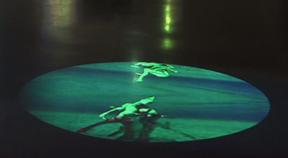 Where Does the Water Stop? , 2016 Floor projection, Video circle 7:19min, looped, Mount with video-projector, media-player, Variable size