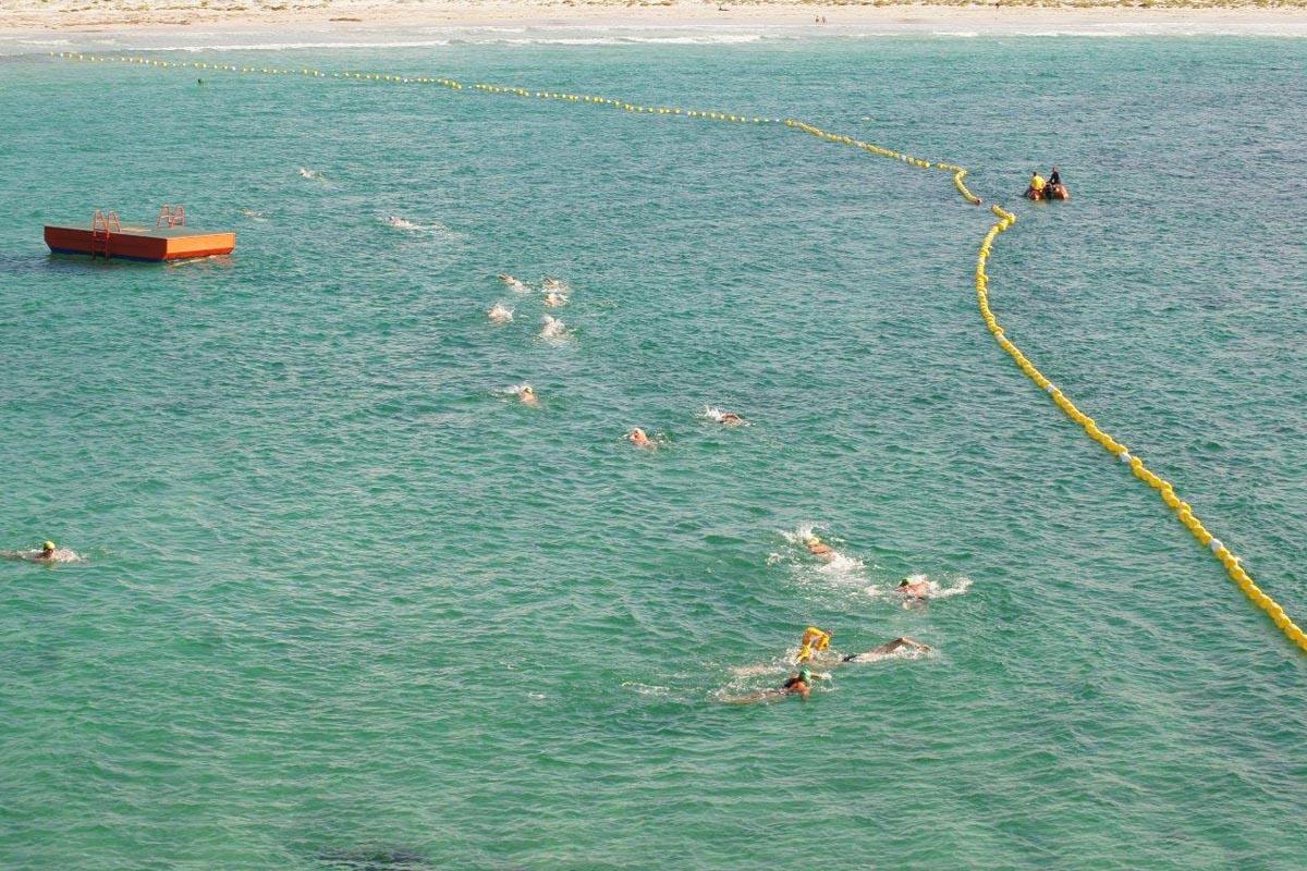Surf Club swim inside Middleton Beach Shark Barrier