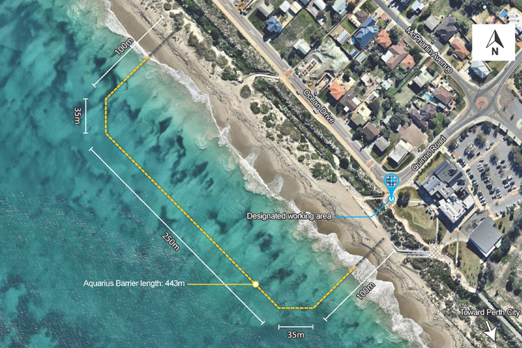 Plan for Quinns Beach Shark Barrier, Wanneroo