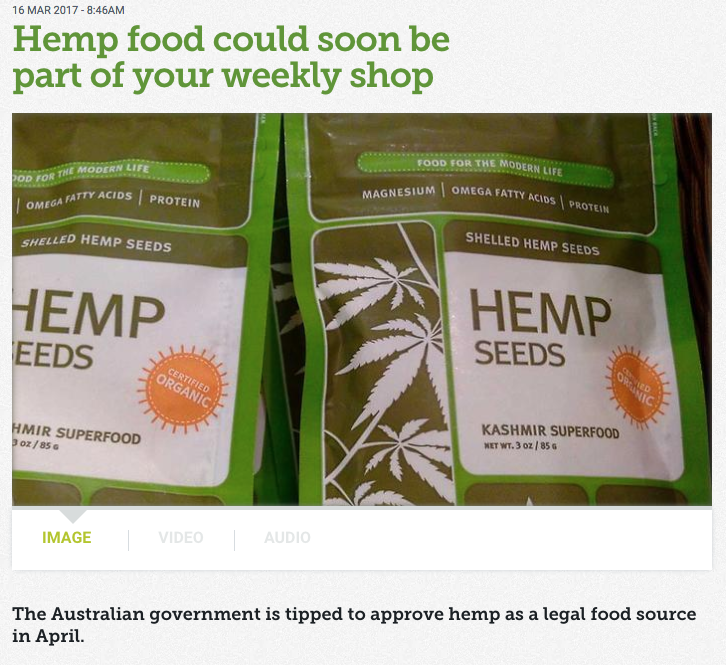 'Hemp food could soon be a part of your weekly shop' - SBS online