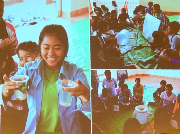 A glass of lean water – something we take for granted here in Singapore, brings so much joy to the children in Battambang.