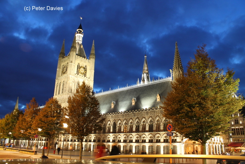 St Martin's Cathedral in Ypres, Belgium. It took 140 years to build (1230 - 1370). The building was damaged during WW I and was rebuilt after the war (1922-30).