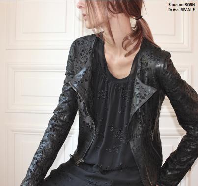 Куртка из кожи Born, ручная перфорация.  Состав: кожа ягненка  Подкладка: 100% хлопок  Цена: 60000 руб.