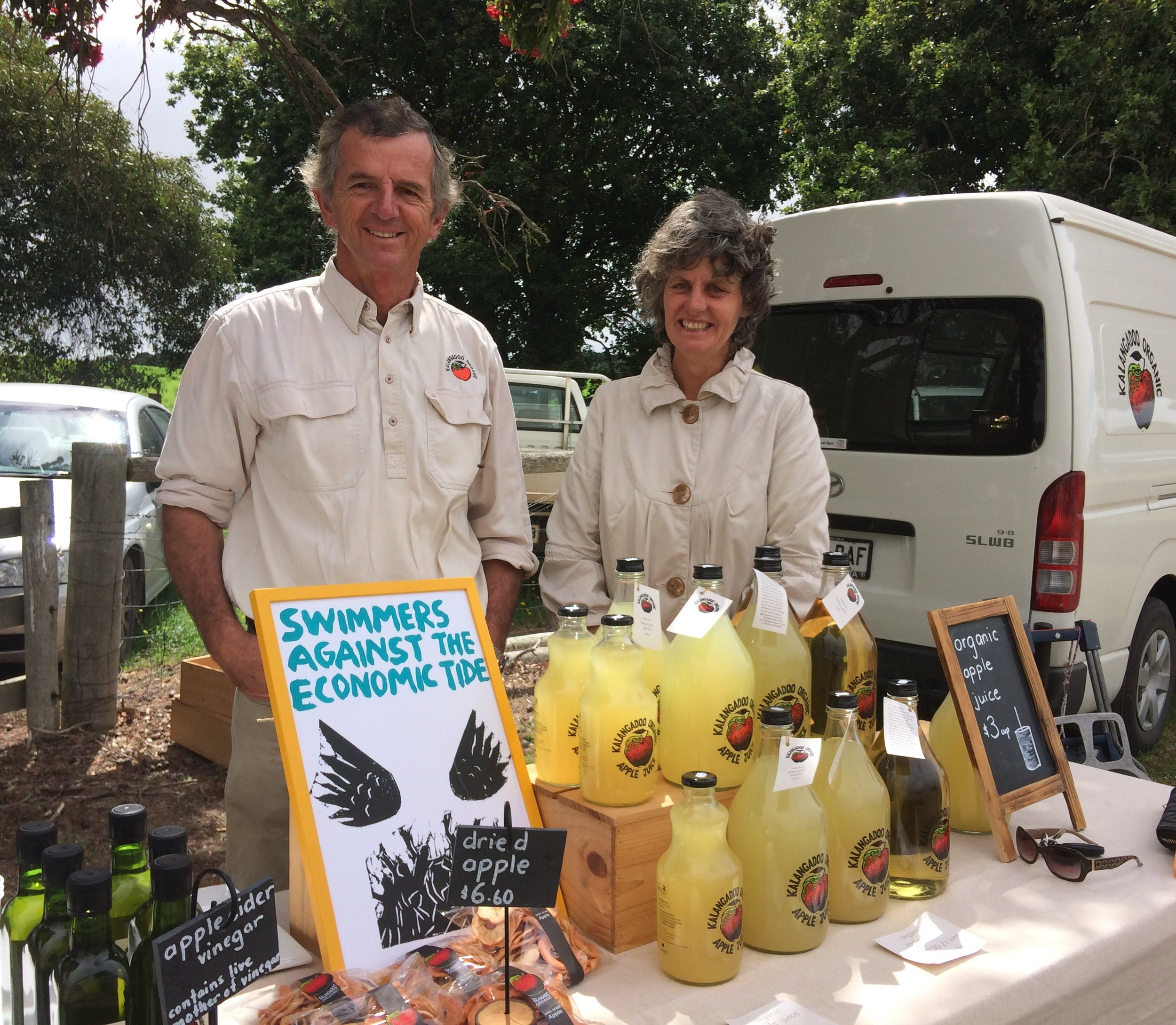 Chris and Michelle at Mil Lel hall helping to celebrate thedeclaration of another Gasfield Free area in the Limestone Coast. February 2015