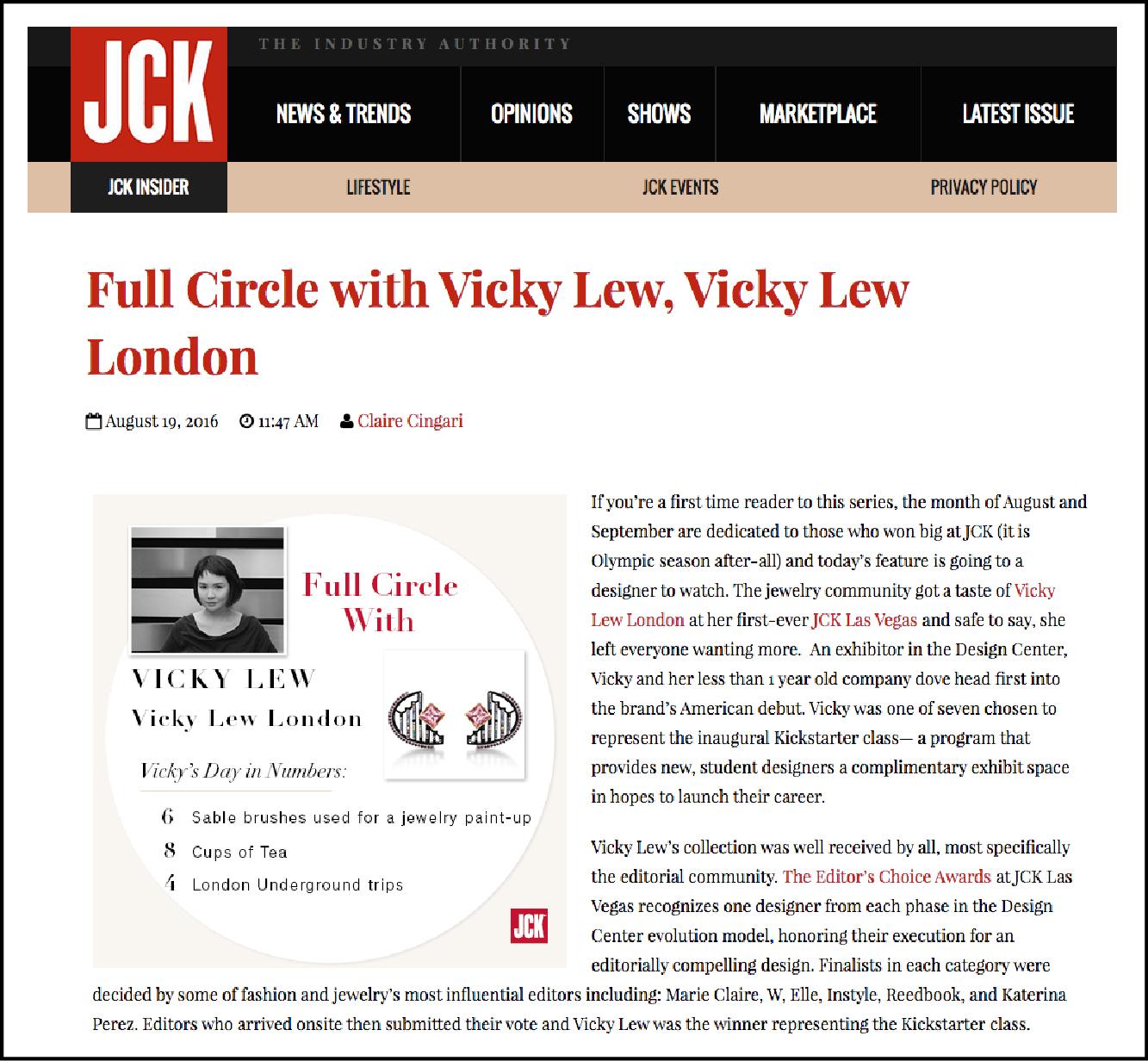 JCK ONLINE     August 2016